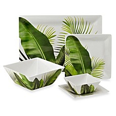 Poolside Palms Melamine Square Dinnerware Collection