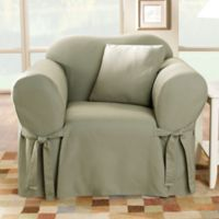 Sure Fit® Duck Supreme Cotton Chair Slipcover in Sage