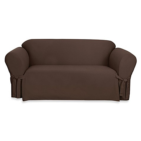Buy Sure Fit Duck Supreme Cotton Sofa Slipcover In Warm Chocolate From Bed Bath Beyond