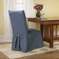 Sure Fit® Duck Supreme Cotton Dining Room Chair Slipcover in Blue