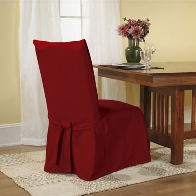 Sure FitR Duck Supreme Cotton Dining Room Chair Slipcover In Claret
