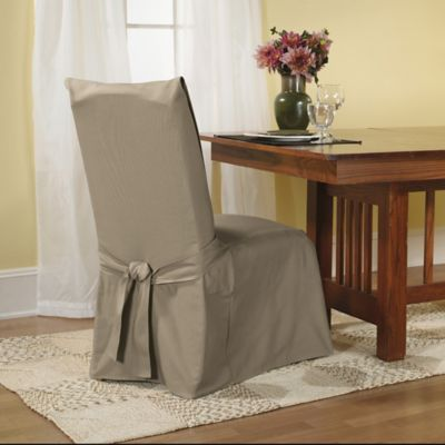 Sure FitR Duck Supreme Cotton Dining Room Chair Slipcover In Linen