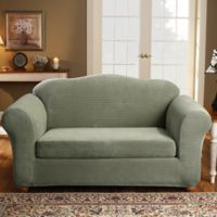 Sure Fit® Stretch Royal Diamond 2-Piece Loveseat Slipcover in Sage