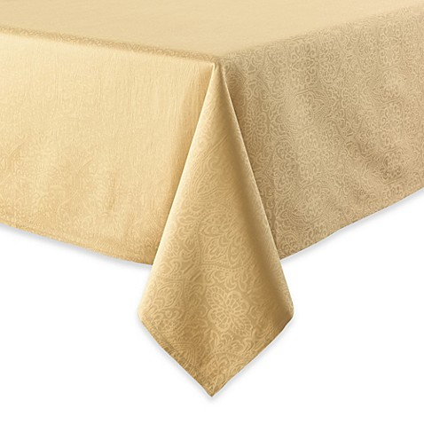 Waterford 174 Linens Sarah Tablecloth In Gold Bed Bath Amp Beyond