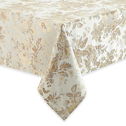 Waterford 174 Linens Marcelle Tablecloth In Ivory Bed Bath