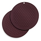 Round Silicone Pot Holder 2-Pack in Purple