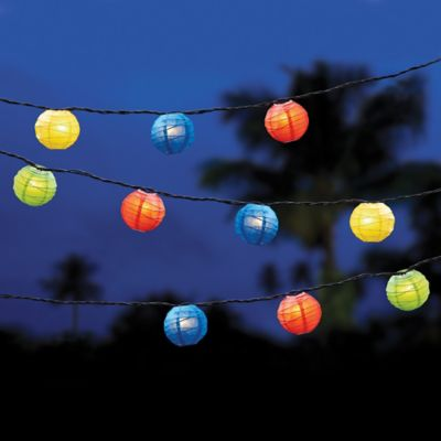 decorative 10 count paper lantern string lights - Decorative String Lights
