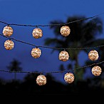 White Wash Rattan String Lights