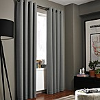 Kenneth Cole Reaction Home Gotham Texture 84-Inch Lined Grommet Window Curtain Panel in Graphite