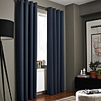 Kenneth Cole Reaction Home Gotham Texture 84-Inch Lined Grommet Window Curtain Panel in Midnight