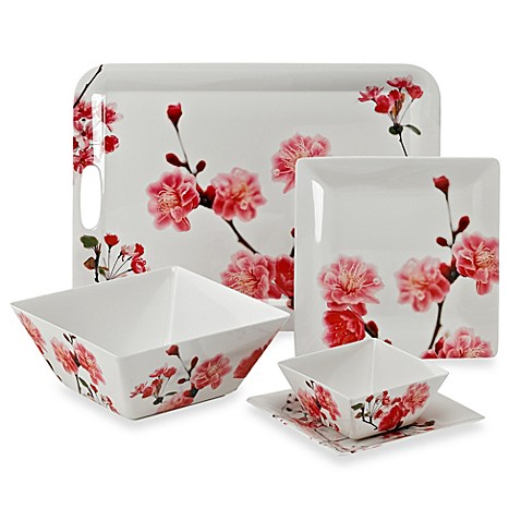 Cherry Blossom Photoreal Square Dinnerware  sc 1 st  Bed Bath \u0026 Beyond & Cherry Blossom Photoreal Square Dinnerware - Bed Bath \u0026 Beyond