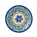 Azul Hand Painted Look 10.5-Inch Round Dinner Plate