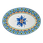 Azul Hand Painted Look 20-Inch Round Serving Platter