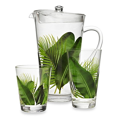 Poolside Palms Acrylic Drinkware