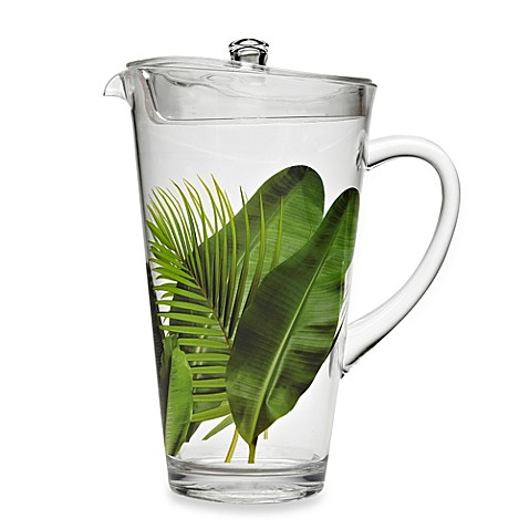 poolside palms acrylic 87 ounce pitcher with lid bed bath beyond. Black Bedroom Furniture Sets. Home Design Ideas