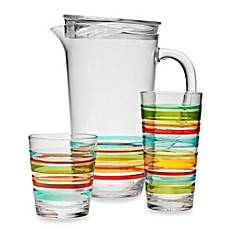 Charming Riviera 3D Multi Stripe Acrylic Drinkware Collection
