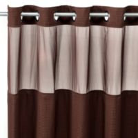 HooklessR Waffle 71 Inch X 74 Fabric Shower Curtain And Liner Set