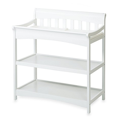 Child Craft Coventry Changing Table In Matte White Bed
