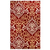Westwood 2-Foot 4-Inch x 3-Foot 7-Inch Damask Accent Rug in Red