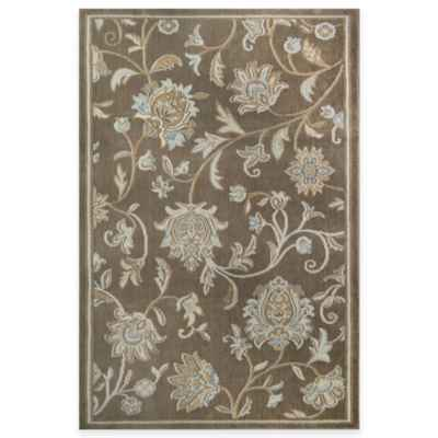 Westwood Floral Accent Rug in Taupe