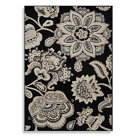 Westwood Floral Accent Rug In Black Bed Bath Amp Beyond