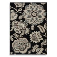 Westwood 2-Foot 3-Inch x 3-Foot 6-Inch Floral Accent Rug in Black