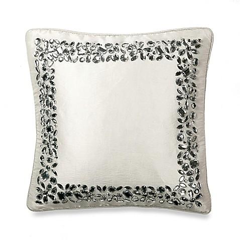 Throw Pillows Matching Curtains : Michael Amini Novella Square Throw Pillow - Bed Bath & Beyond