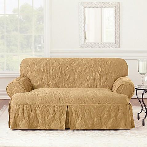 Sure Fit 174 Matelasse Damask 1 Piece T Cushion Loveseat