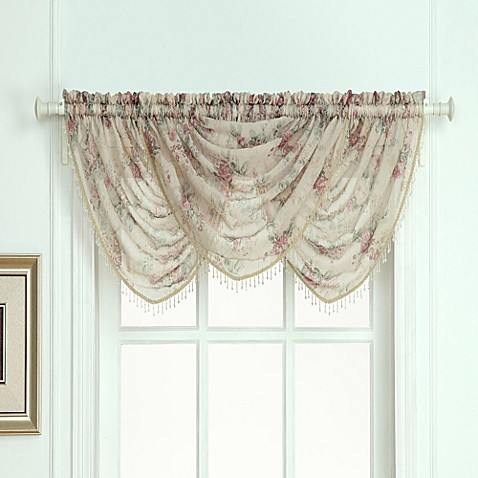 Laura Ashley Stowe Window Curtain Waterfall Valance Bed Bath Beyond