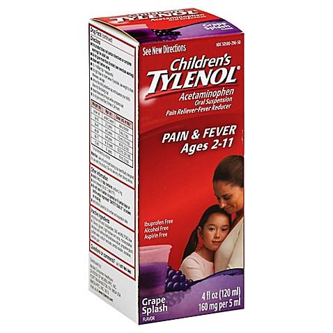 Tylenol Children S 4 Oz Pain Reliever Fever Reducer Oral