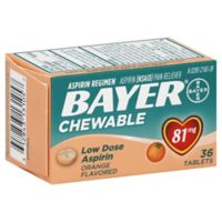 Bayer Children's 36-Count 81 mg Low Dose Chewable Aspirin