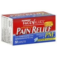 Harmon® Face Values™ 50-Count Extra-Strength Pain Relief PM Caplets