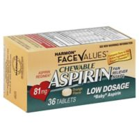 Harmon® Face Values™ 36-Count Low Dosage Chewable Aspirin Tablets