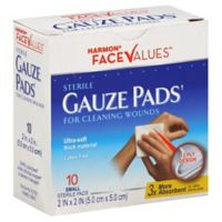 Harmon® Face Values™ 10-Count 2-Inch x 2-Inch Sterile Gauze Pads
