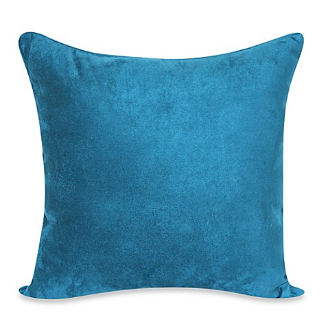 image of Heavy Faux Suede 20-Inch Throw Pillow in Dark Teal