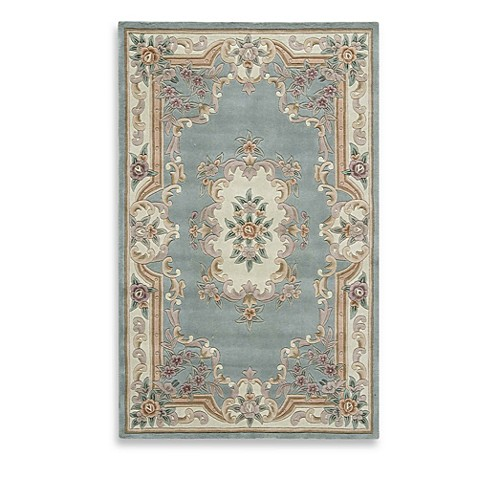 Rugs America New Aubusson Rug In Light Green Bed Bath