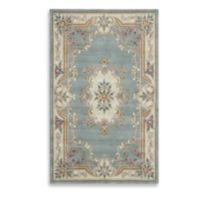 Rugs America New Aubusson 5-Foot x 8-Foot Rectangular Rug in Light Green