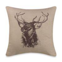 HiEnd Accents Linen Elk Throw Pillow