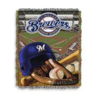 MLB Milwaukee Brewers Tapestry Throw