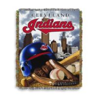 MLB Cleveland Indians Tapestry Throw