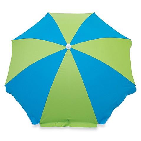 6 Foot Beach Umbrella In Blue Amp Green Bed Bath Amp Beyond