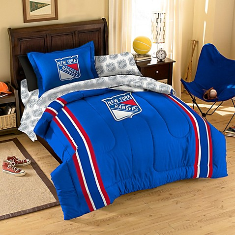 NHL New York Rangers Comforter Set - Bed Bath & Beyond