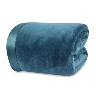 Buy Berkshire Original Microfleece Twin Blanket In Blue