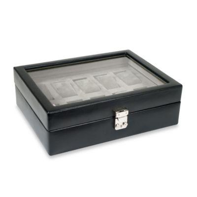 Wolf Designs® Heritage 10 Piece Watch Storage Box In Black