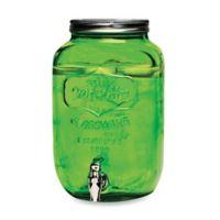 Mason Jar 2-Gallon Beverage Dispenser in Green