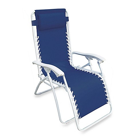 Multi Position Relaxer Zero Gravity Chair In Blue Bed