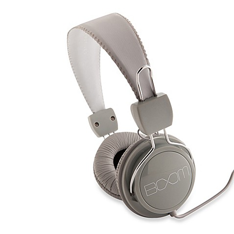 BOOM Renegade On-Ear Headphones in Gray/White