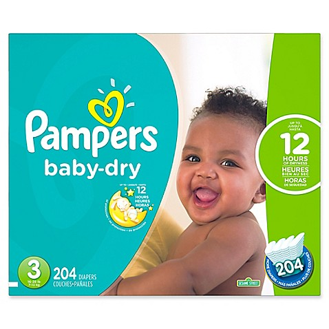 Pampers 174 Baby Dry 204 Count Size 3 Economy Pack Plus