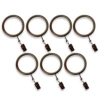 Cambria® Premier Complete Clip Rings in Oil Rubbed Bronze (Set of 7)