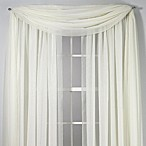 Voile Sheer 6-Yard Window Scarf in Ivory